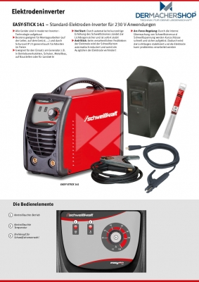Elektrodeninverter EASY-STICK 141 Start-Set